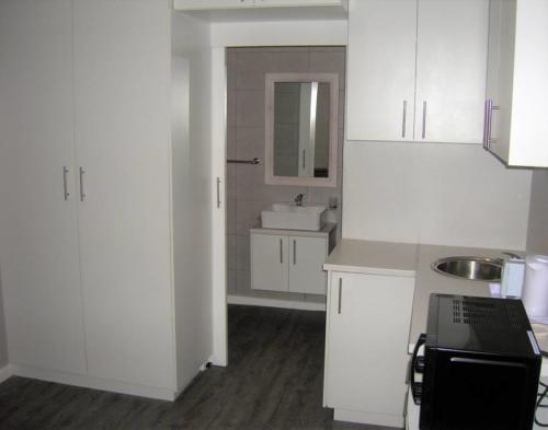 Sufficient cupboards for your duration of stay and kitchenette